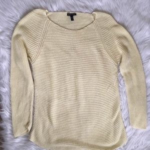 Eileen Fisher Open Knit sweater Pale Citron Yellow